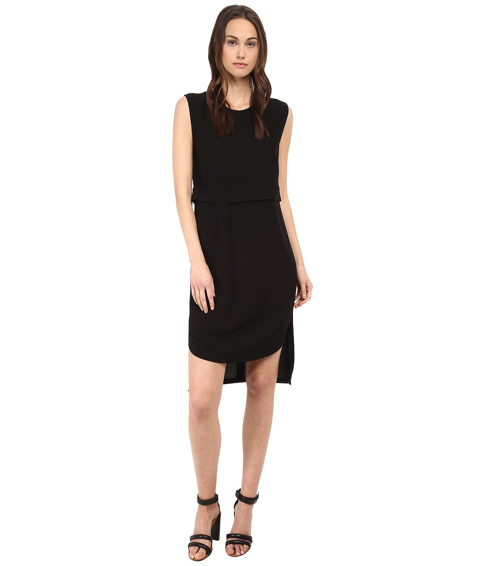 HELMUT LANG - Blaze Layered Dress (Black) Women's Dress