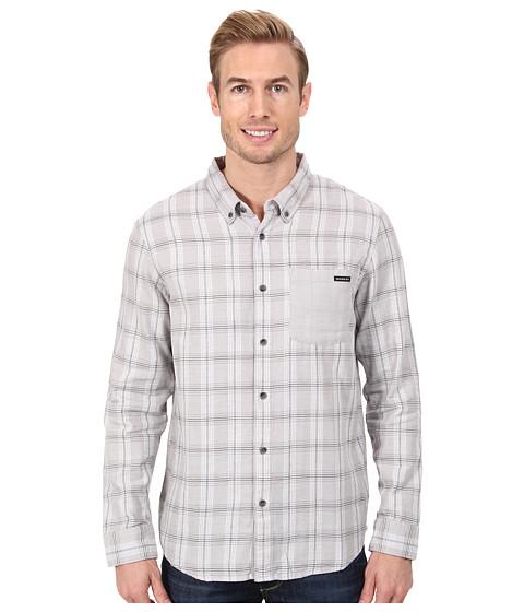 Oakley - Long Sleeve Bravo Woven (Light Grey) Men's Long Sleeve Button Up