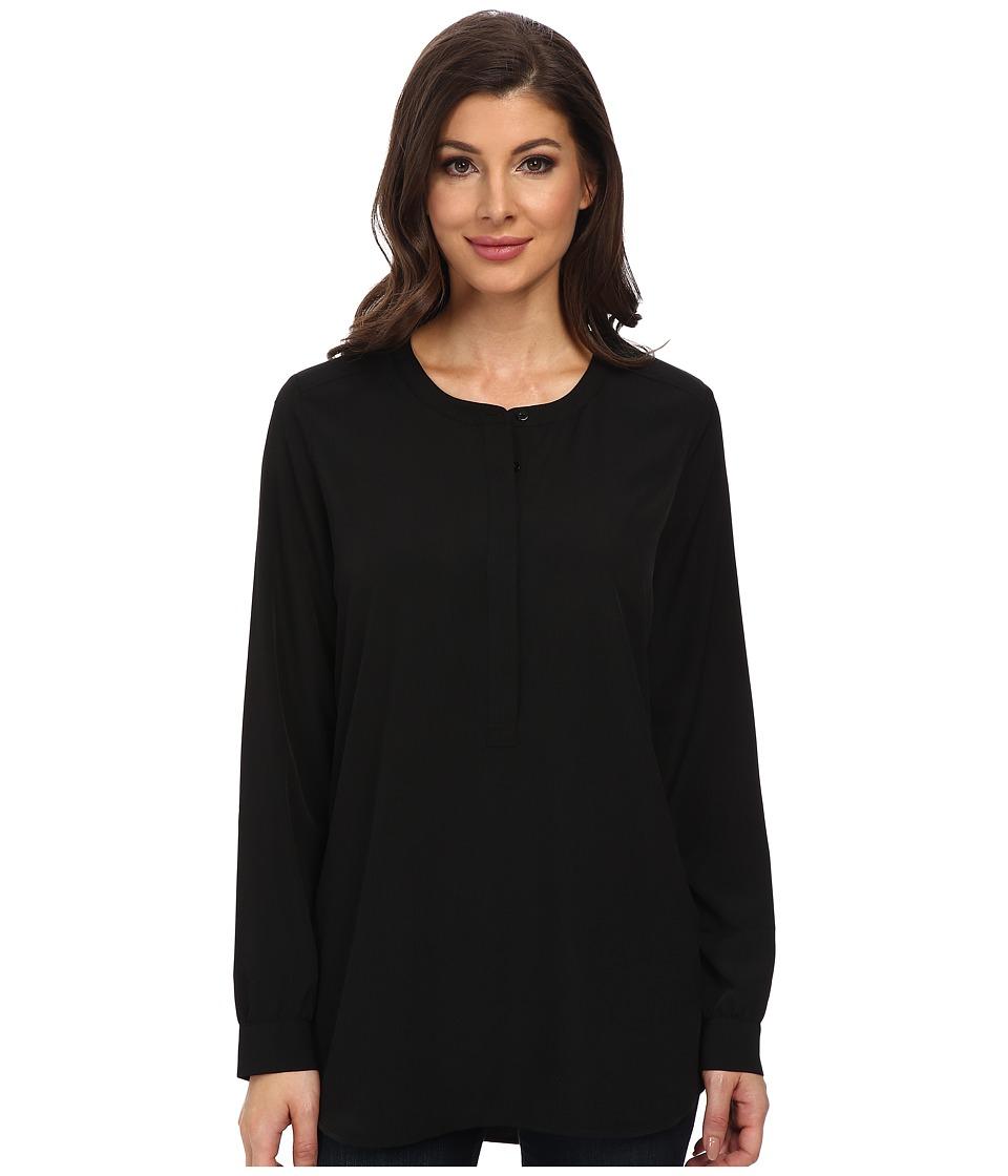 NYDJ - Woven Tunic (Black) Women's Blouse
