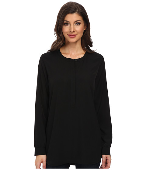 NYDJ - Woven Tunic (Black) Women's Blouse