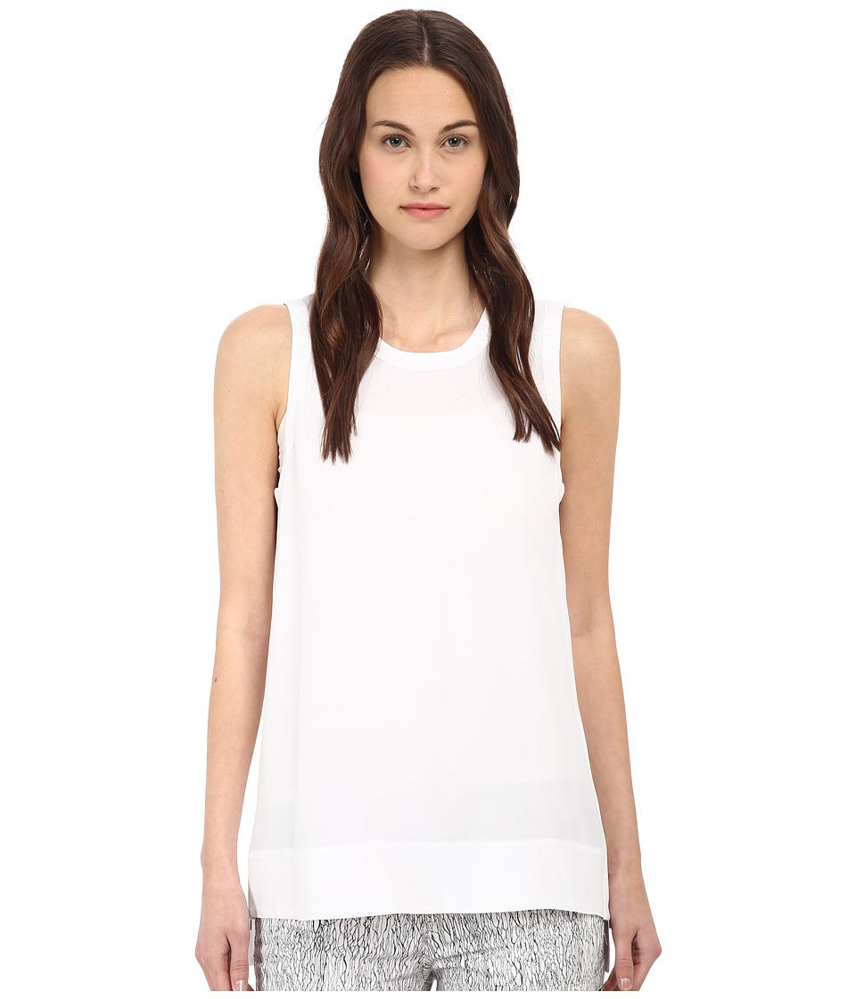 HELMUT LANG - Axio Crepe Top (Optic White) Women