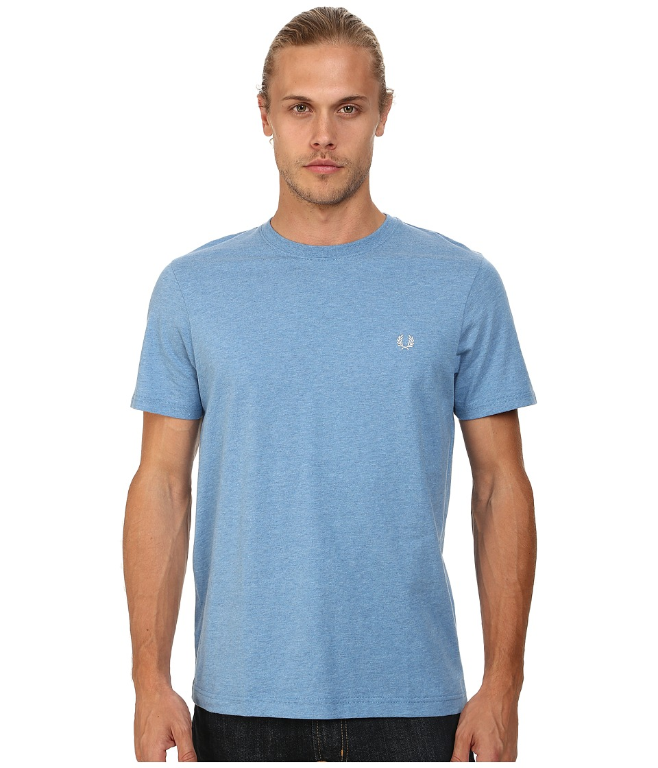 Fred Perry - Crew Neck T-Shirt (Smoke Blue Marl) Men's T Shirt