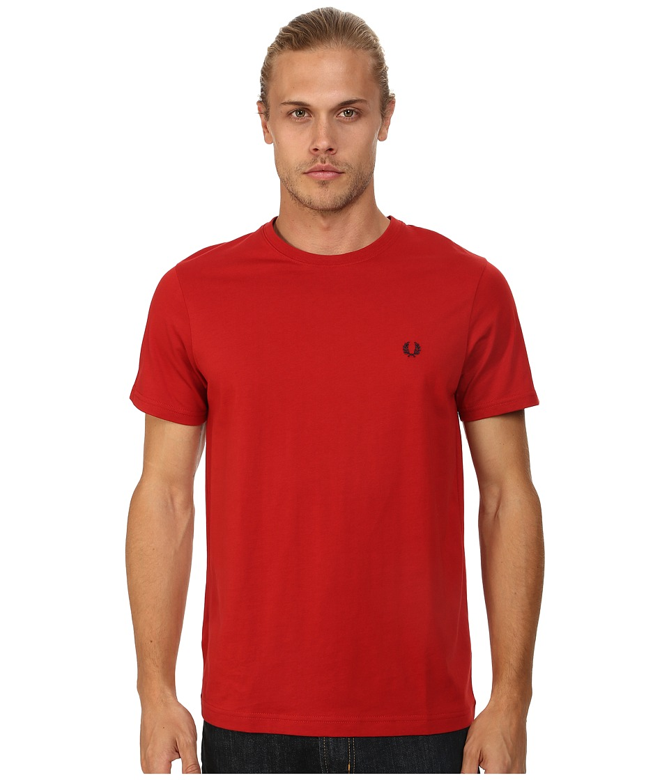 Fred Perry - Crew Neck T-Shirt (Wallace Red) Men's T Shirt