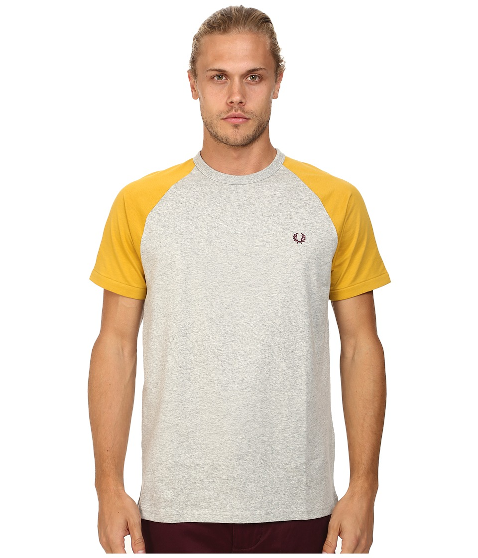 Fred Perry - Raglan Ringer T-Shirt (Stone Marl/Dark Honey) Men's T Shirt