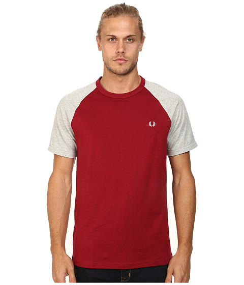 Fred Perry - Raglan Ringer T-Shirt (Rosso/Stone Marl) Men