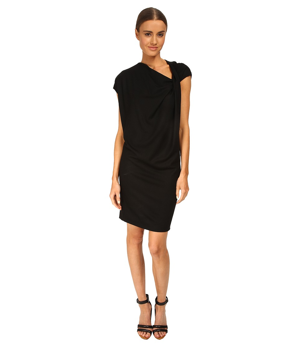 HELMUT LANG - Sonar Wool Twist Know Dress (Black) Women