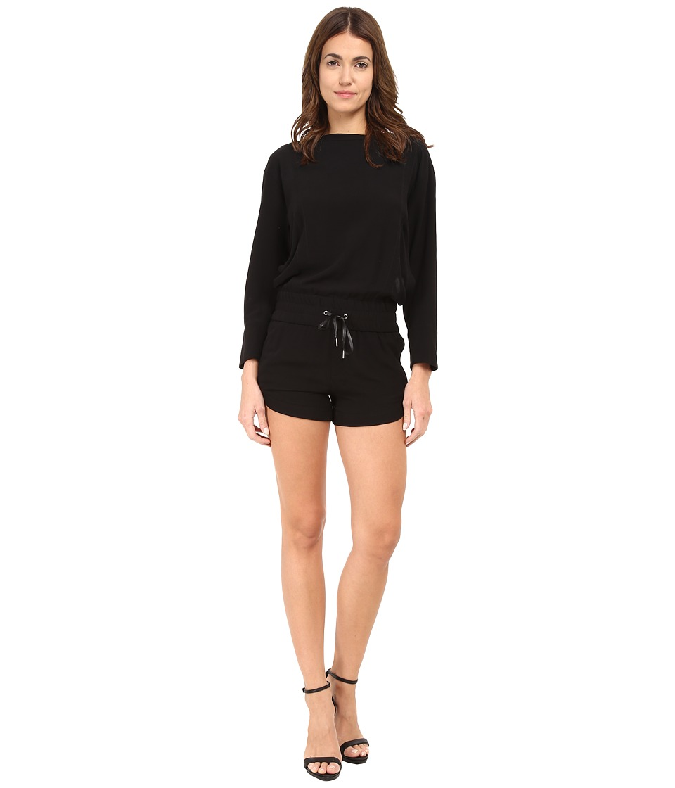 HELMUT LANG - Axio Crepe Jumpsuit (Black) Women's Jumpsuit & Rompers One Piece