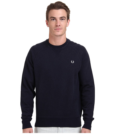 Fred Perry - Loopback Crew Sweater (Navy Marl) Men's Sweater