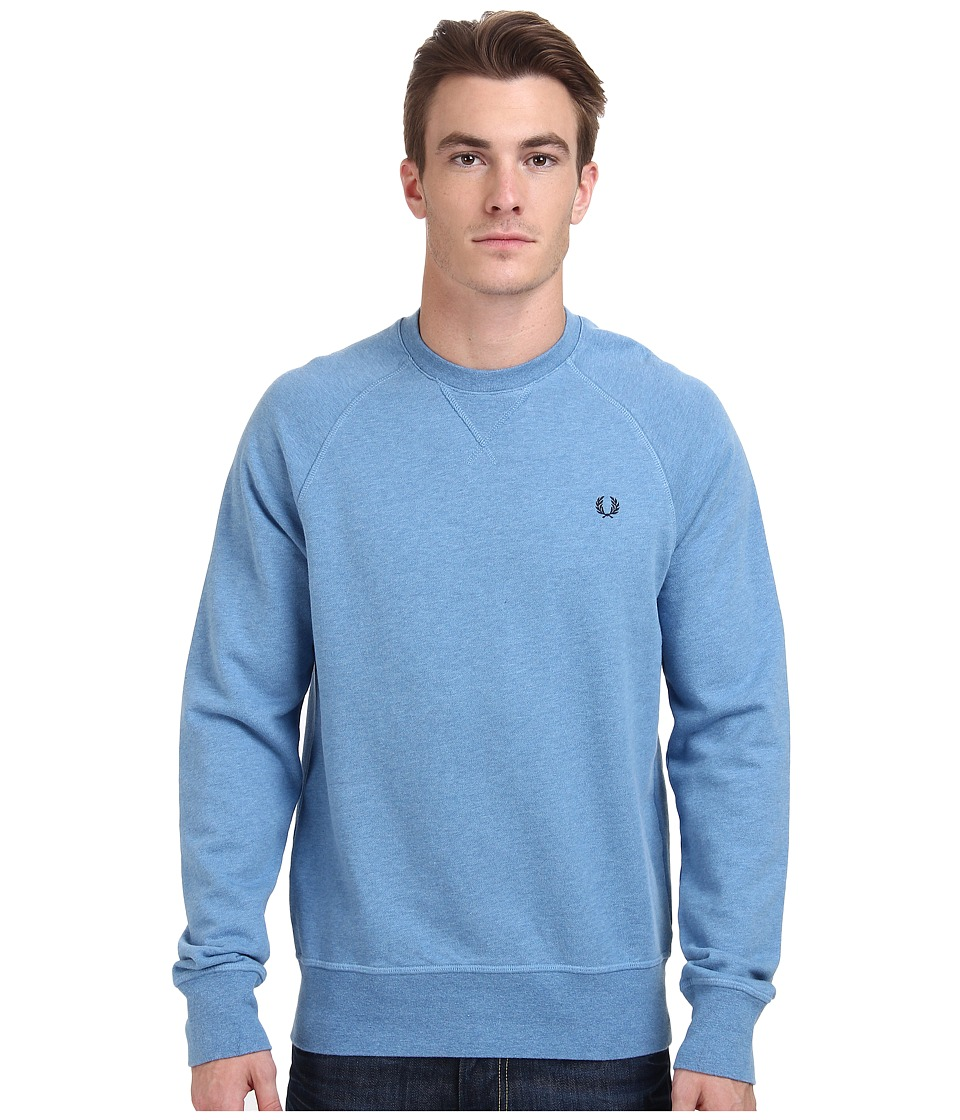 Fred Perry - Loopback Crew Sweater (Smoke Blue Marl) Men