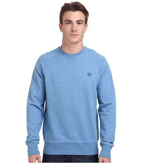 Fred Perry - Loopback Crew Sweater (Smoke Blue Marl) Men's Sweater