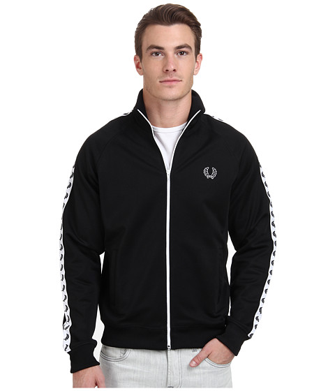 Fred Perry - Laurel Taped Track Jacket (Black) Men's Coat
