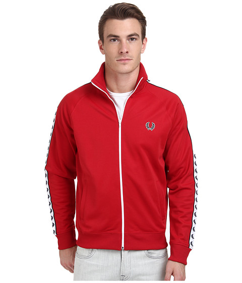 Fred Perry - Laurel Taped Track Jacket (Blood) Men's Coat