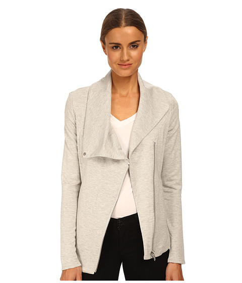 HELMUT LANG - Villous Zip Up Sweatshirt (Grout Heather Grey) Women's Sweatshirt