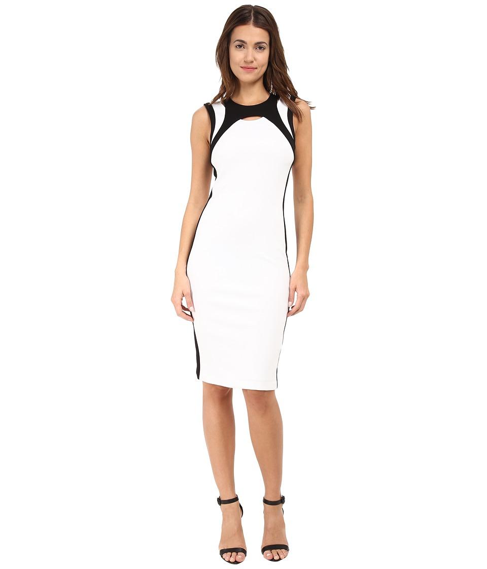 HELMUT LANG - Lateral Drape Dress (Optic White) Women's Dress