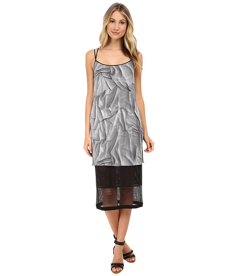 HELMUT LANG - Matic Print Blaze Dress (Black/White Multi) Women's Dress