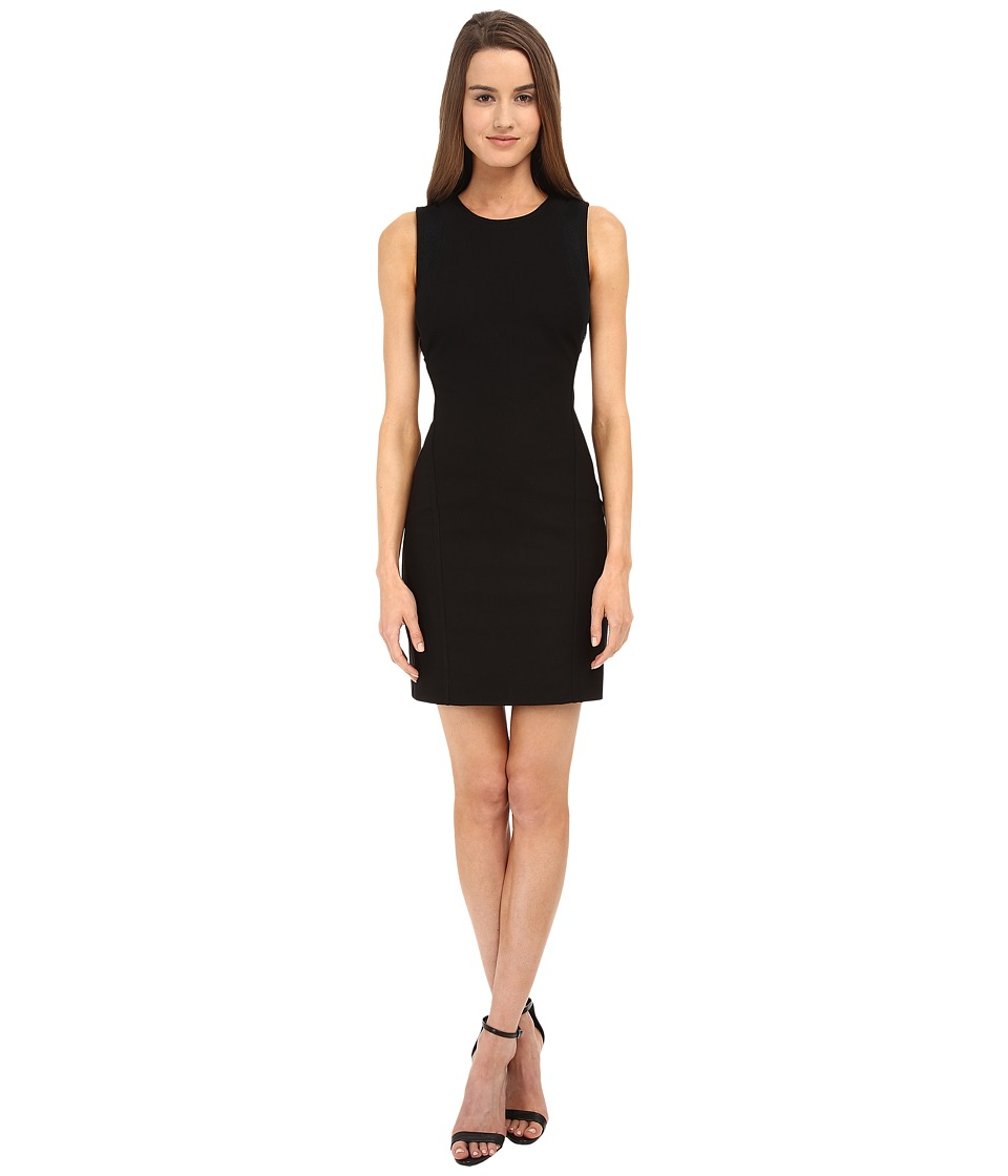 HELMUT LANG - Compress Twill Dress (Black) Women's Dress