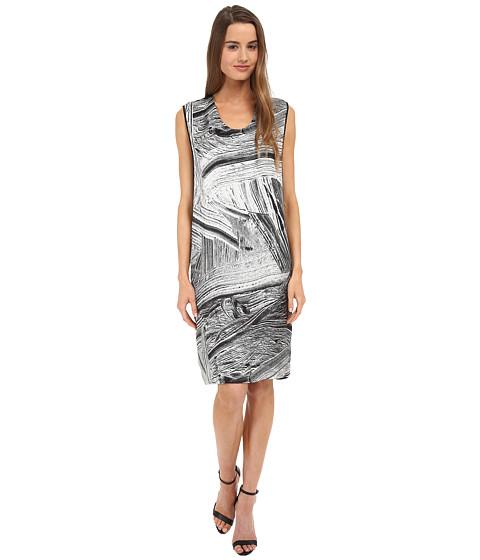 HELMUT LANG - Method Print Silk Dress (Black Multi) Women's Dress