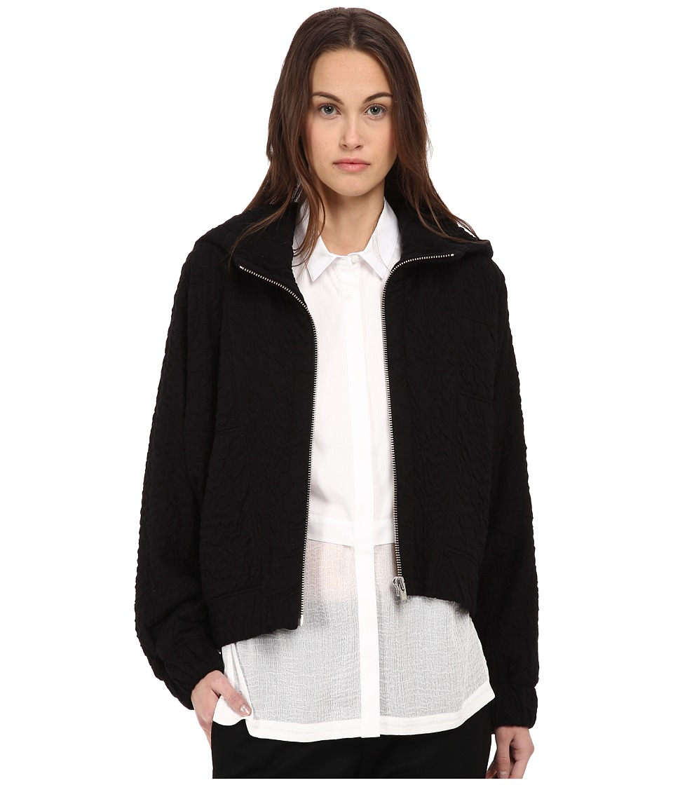 HELMUT LANG - Undulate Jersey Jacket (Black) Women's Coat