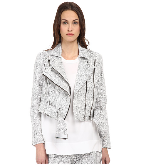 HELMUT LANG - Lightning Wash Biker Jacket (Black Multi) Women's Jacket