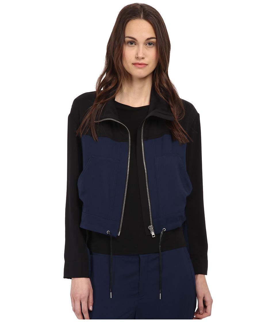 HELMUT LANG - Solar Drape Jacket (Black/Navy) Women