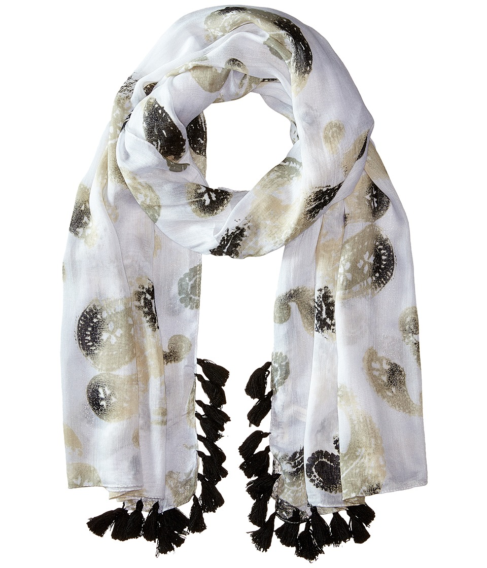 Michael Stars - Faded Paisley Scarf (Raffia) Scarves