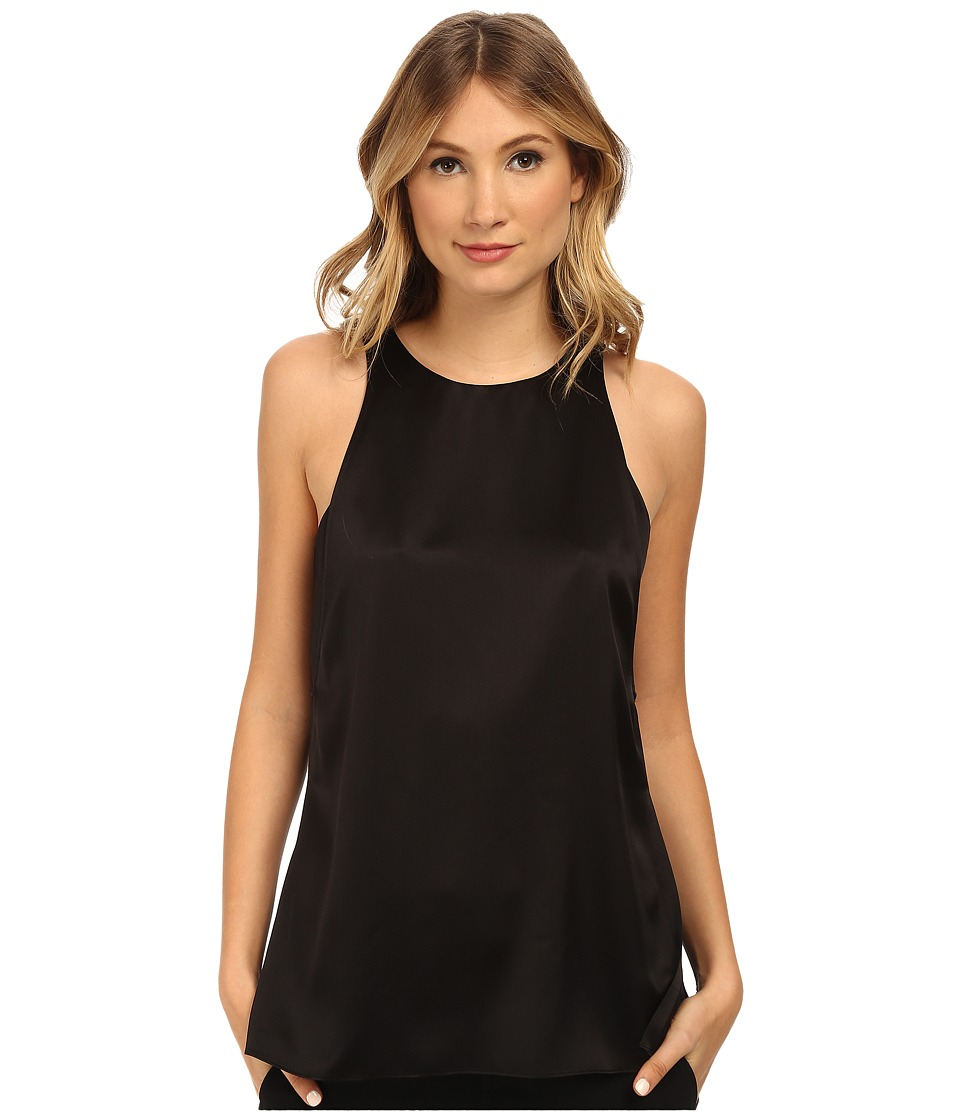 HELMUT LANG - Mere Layer Silk Tank (Black) Women's Sleeveless