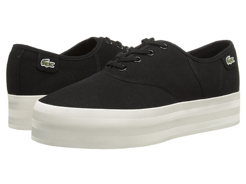 Lacoste - Rene Platform PC (Black) Women's Lace up casual Shoes