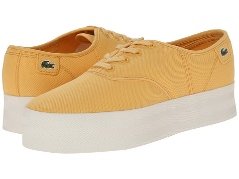 Lacoste - Rene Platform PC (Yellow) Women's Lace up casual Shoes
