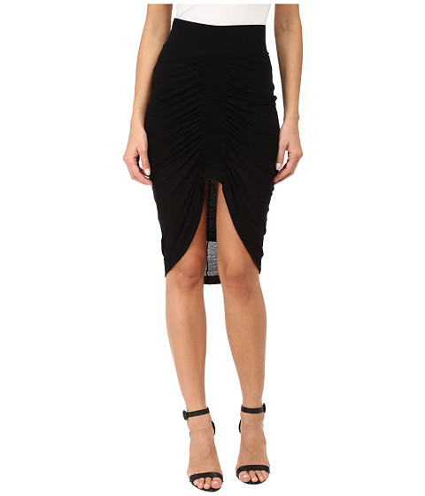 HELMUT LANG - Viscose Film Skirt (Black) Women's Skirt