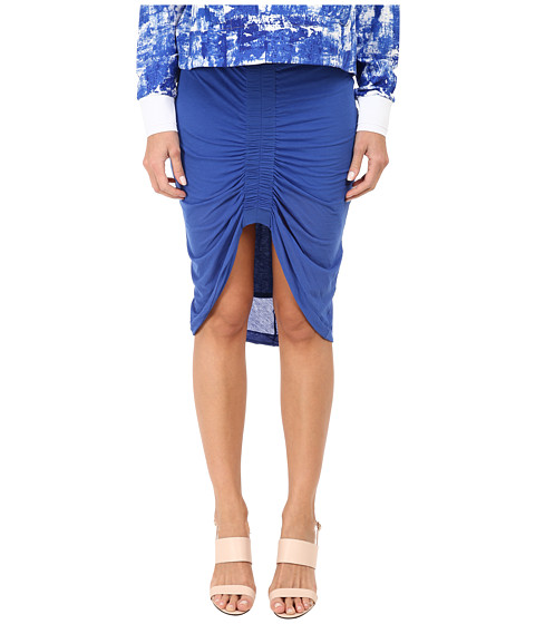 HELMUT LANG - Viscose Film Skirt (Trac Blue) Women's Skirt