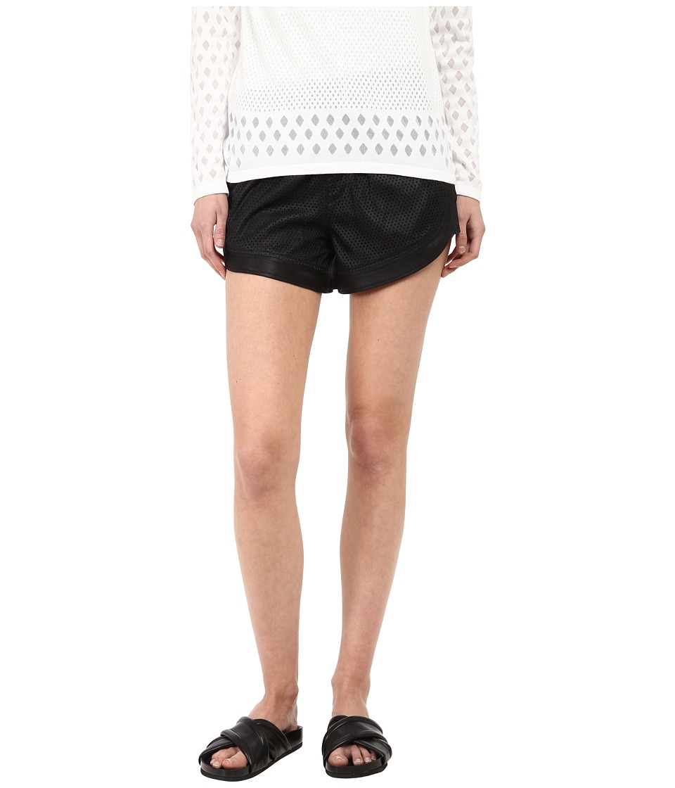 HELMUT LANG - Kiln Leather Mesh Short (Black) Women's Shorts