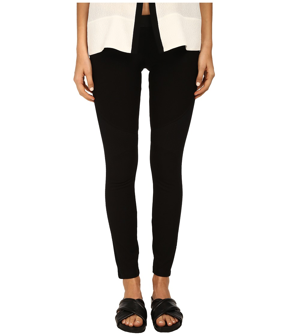 HELMUT LANG - Compress Twill Jersey Pant (Black) Women's Casual Pants