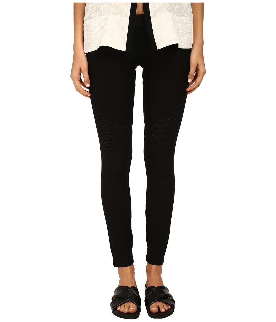 HELMUT LANG - Compress Twill Jersey Pant (Black) Women's Casual Pants