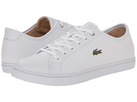 Lacoste - Showcourt Piq3 (White/White) Women's Lace up casual Shoes