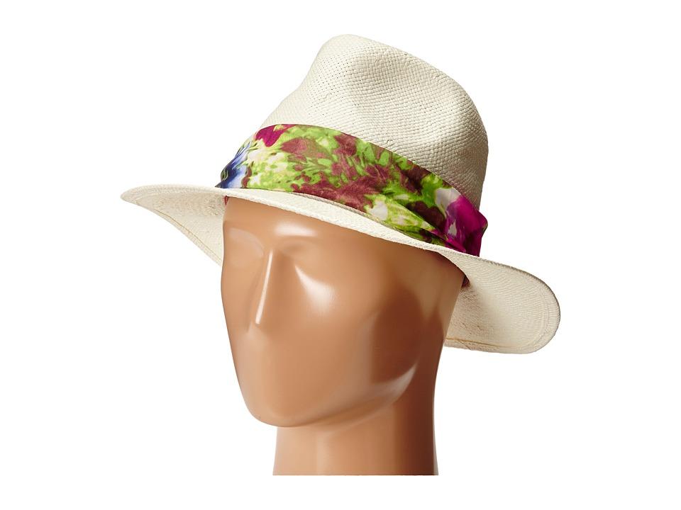 Michael Stars - Flora Banded Panama (Vanilla) Caps