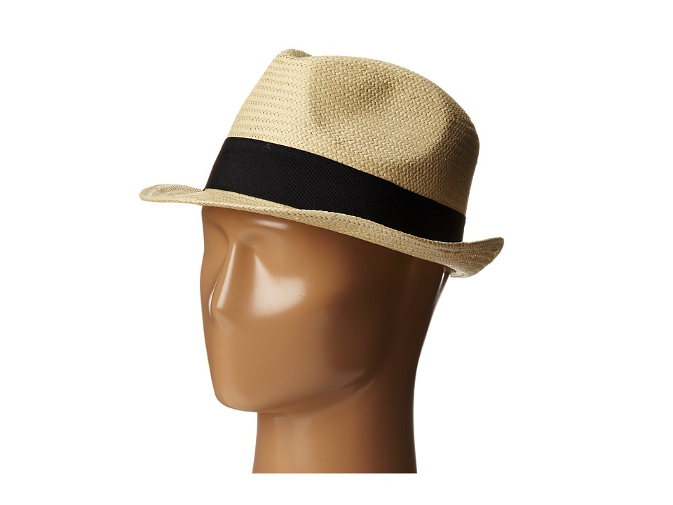 Michael Stars - Pop Band Short Brim Panama Hat (Black) Caps