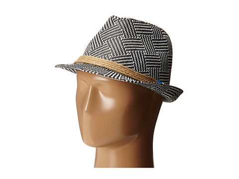 Michael Stars - Wrapped Up Geo Fedora (Black) Caps