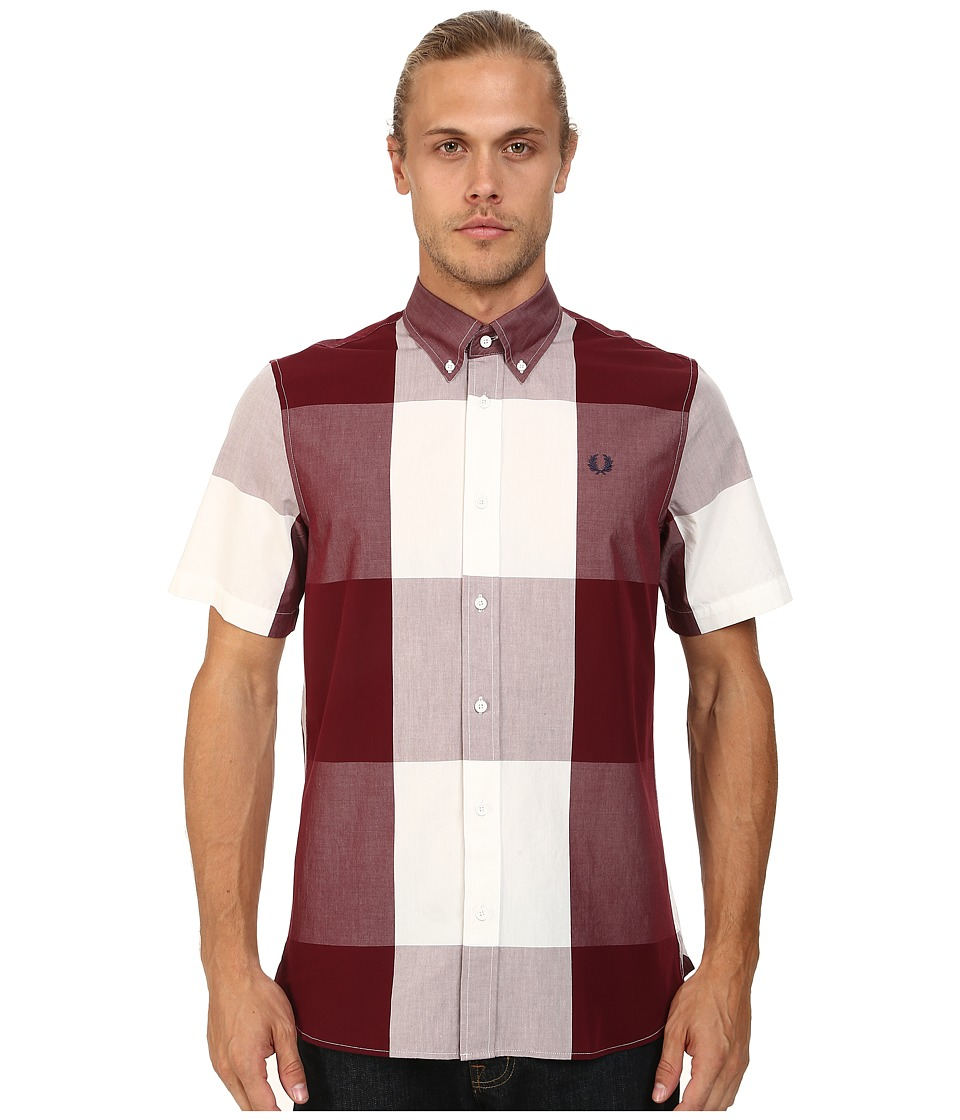 Fred Perry - Magnified Gingham Shirt (Port) Men