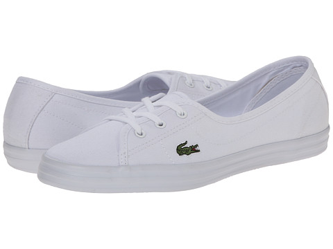 Lacoste - Ziane Chunky LCR (White/White) Women's Lace up casual Shoes