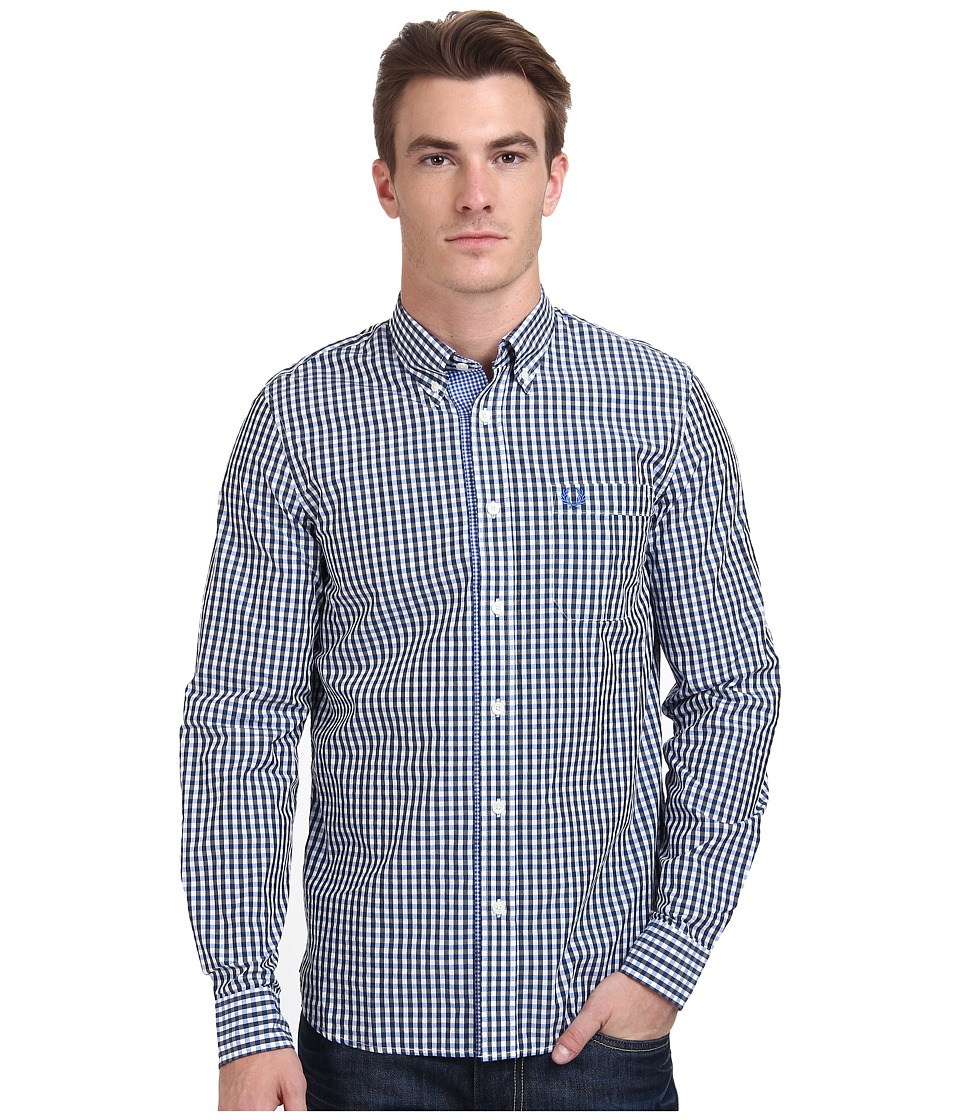 Fred Perry - Three Colour Gingham Shirt (Olympian) Men's Clothing