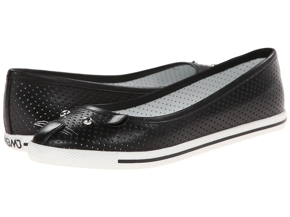 Marc by Marc Jacobs - Perforated Kitten Flats (Black) Women's Slip on Shoes