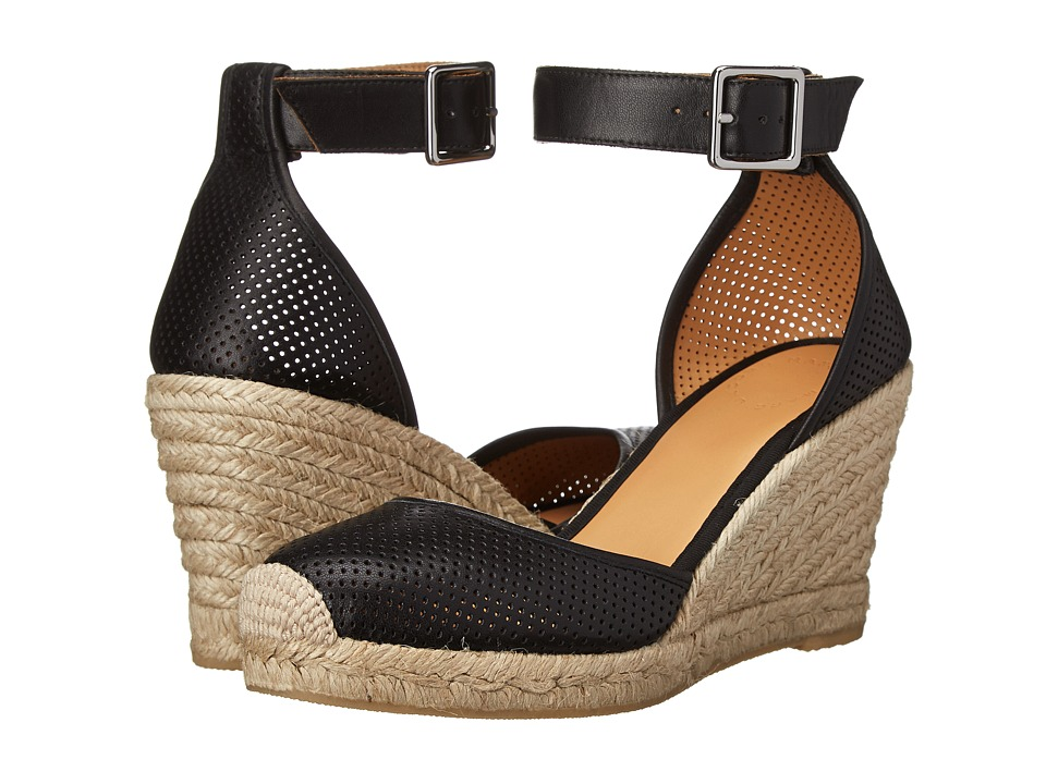 Marc by Marc Jacobs - Perforated Leather Espadrilles (Black) Women's Shoes