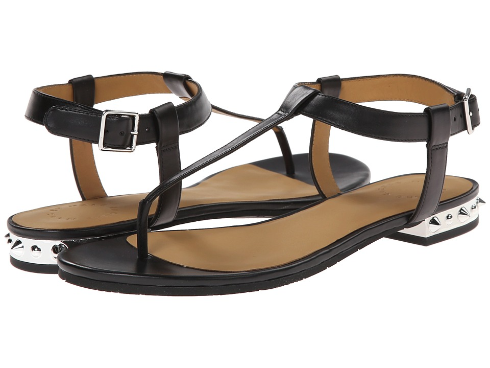Marc by Marc Jacobs - Studded T Strap Sandals (Black) Women