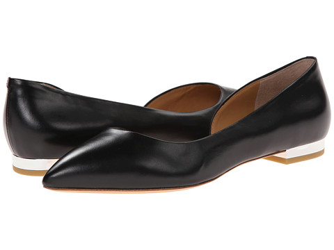 Marc by Marc Jacobs - Ballerina Flat with Stacked Heel (Black) Women