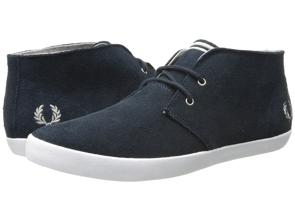 Fred Perry - Byron Mid Suede (Navy/Cloudburst) Men's Lace up casual Shoes