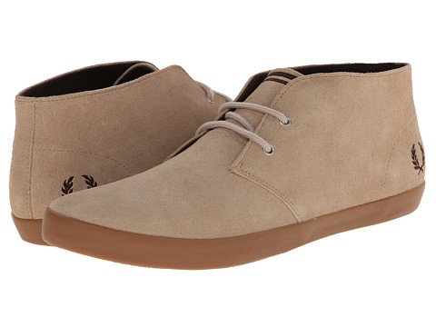 Fred Perry - Byron Mid Suede (Mushroom/Dark Chocolate) Men's Lace up casual Shoes