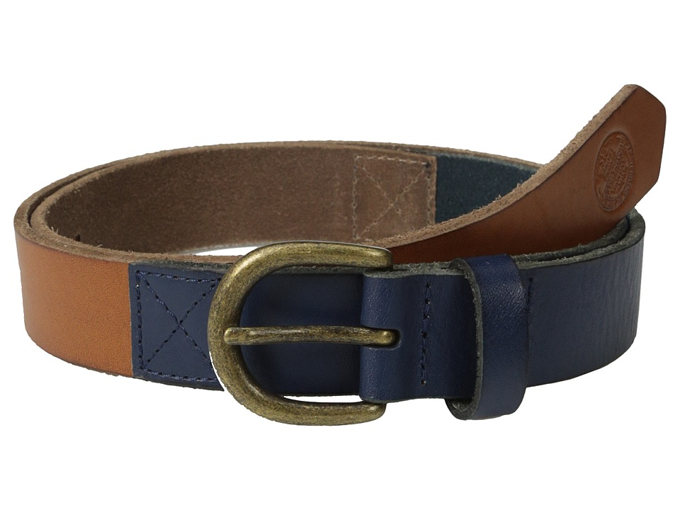 Scotch & Soda - Two-Tone Leather Belt (Blue/Brown) Men's Belts