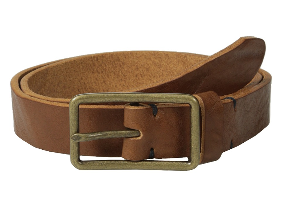 Scotch & Soda - Premium Italian Leather Belt (Brown) Men's Belts