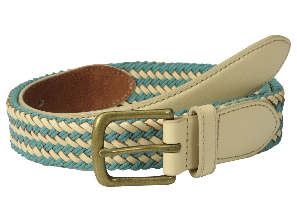 Scotch & Soda - Multicolor Leather Braided Belt (Blue) Men's Belts