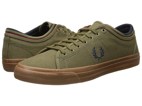 Fred Perry - Kendrick Tipped Cuff Canvas (British Olive/Navy) Men